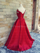Off-the-should Ball Gown Waistband Long Prom Dresses