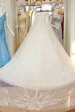 Funky A-Line Floor-Length Tulle Bridal Wedding Dresses
