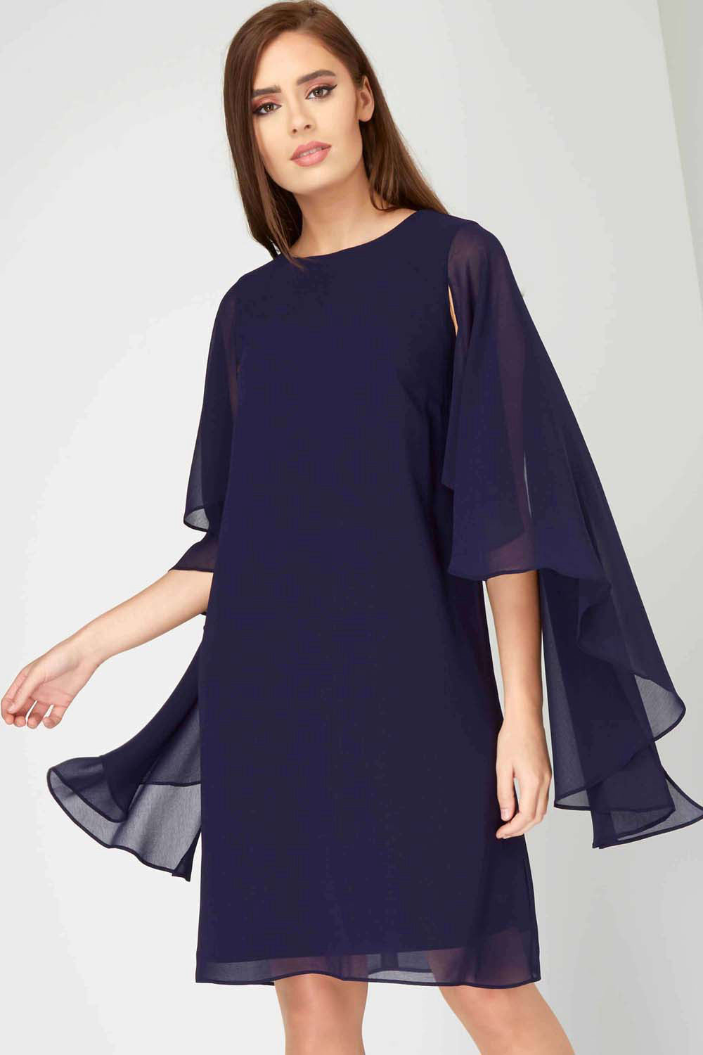 Chiffon 3/4 Sleeves Short Mother of Bride Dresses