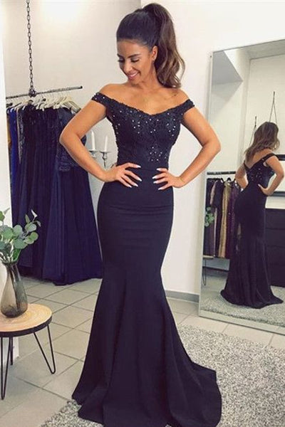 A-Line/Princess Lace Short Sleeves Floor-Length Prom dresses