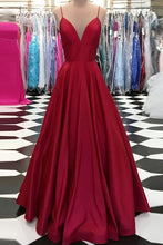 Burgundy Trumpet/Mermaid Floor-Length Satin Sleeveless Prom Dresses