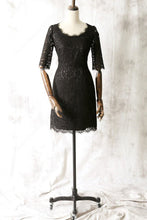 Short Lace 1/2 Sleeves Scoop Neck Mother of the Bride Dresses