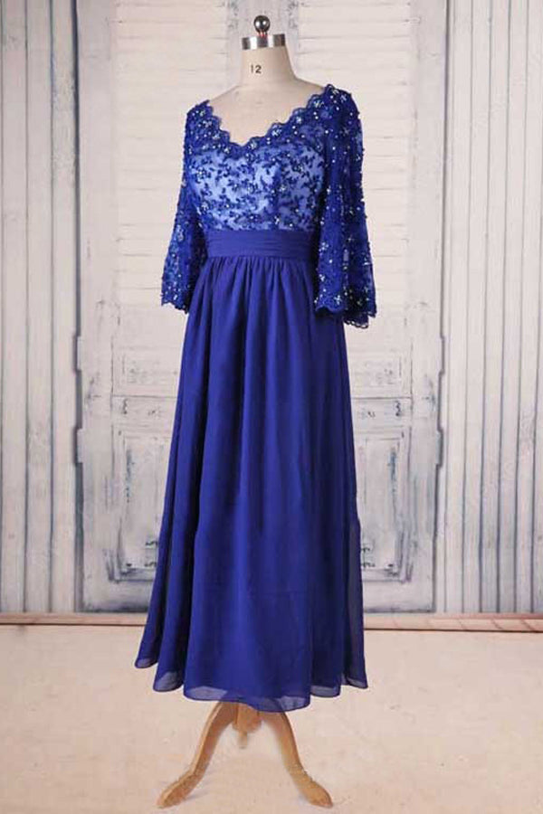 Lace Sweetheart 3/4 Sleeves Floor-Length Mother of the Bride Dresses