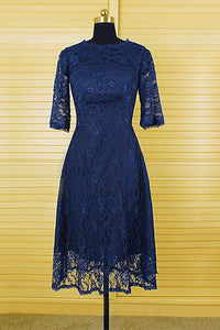 A-Line/Princess Short Lace 3/4 Sleeves Mother of the Bride Dresses