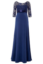 Lace 3/4 Sleeves Floor-Length Mother of the Bride Dresses