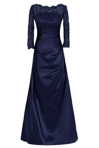 Long Sleeves Lace Floor-Length Mother of the Bride Dresses