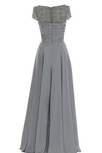 A-Line/Princess Chiffon  Floor-Length Short Sleeves Mother of the Bride Dresses