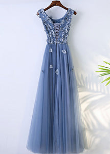 Sleeveless Tulle Floor-Length Scoop Neck Bridesmaids Dresses