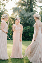 One-Shoulder Chiffon Sleeveless Bridesmaids Dresses