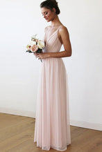 Tulle Sleeveless Spaghetti Straps Floor-Length Bridesmaids Dresses