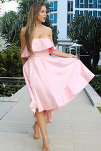 Sweetheart Short Satin Sleeveless  Bridesmaids Dresses Bow(s)