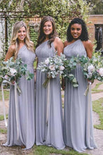 Chiffon One-Shoulder Long Bridesmaids Dresses