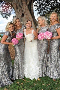 Trumpet/Mermaid Sequined Floor-Length Bridesmaids Dresses