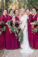 A-Line/Princess Chiffon Floor-Length Bridesmaids Dresses