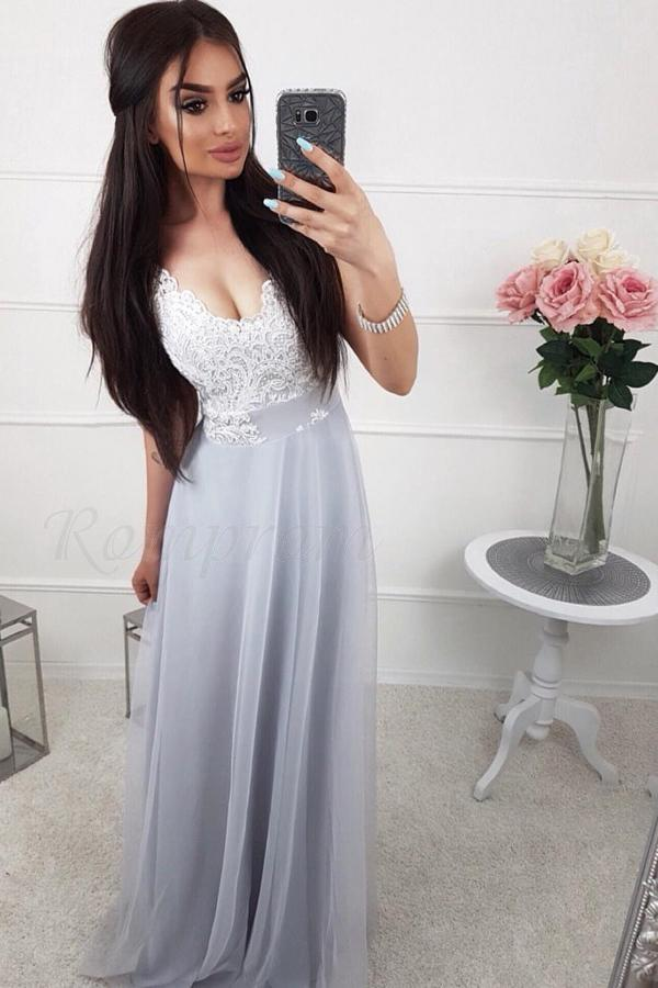 A-Line/Princess Tulle Sleeveless Lace Bridesmaids Dresses