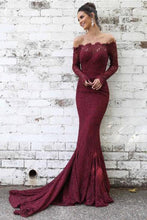 Trumpet/Mermaid  Lace Off-the-Shoulder Sweep Train Evening dresses