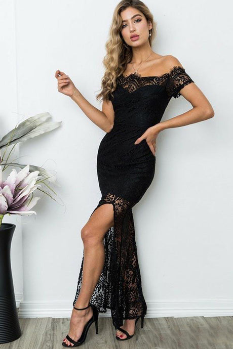 Trumpet/Mermaid Off-the-Shoulder Lace Evening Dresses