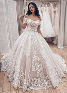 New Off-the-Shoulder Lace Bridal Wedding Dresses