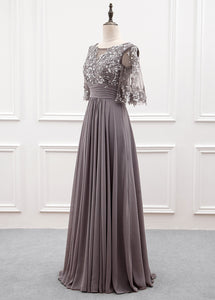 Chiffon Half Sleeves Mother of the Bride Dresses