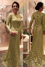 Lace Long Sleeves Sheath/Column Mother of the Bride Dresses