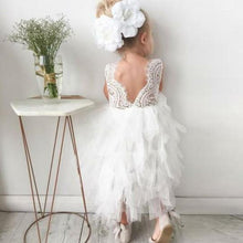 Short Tulle Appliques Lace Flower Girl Dresses