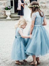 Tulle A-Line/Princess Lace Flower Girl Dresses