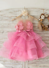 Short Tulle  Flower(s) Flower Girl Dresses