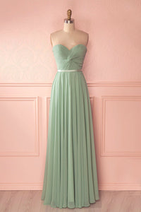 A-Line/Princess Chiffon Sweetheart Bridesmaids Dresses