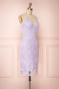 V-neck Spaghetti Straps Lace Short Bridesmaids Dresses