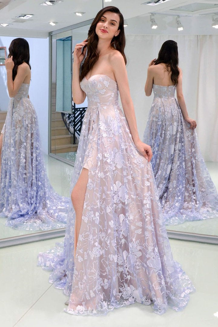 A-Line/Princess Sweetheart Tulle Prom Dresses