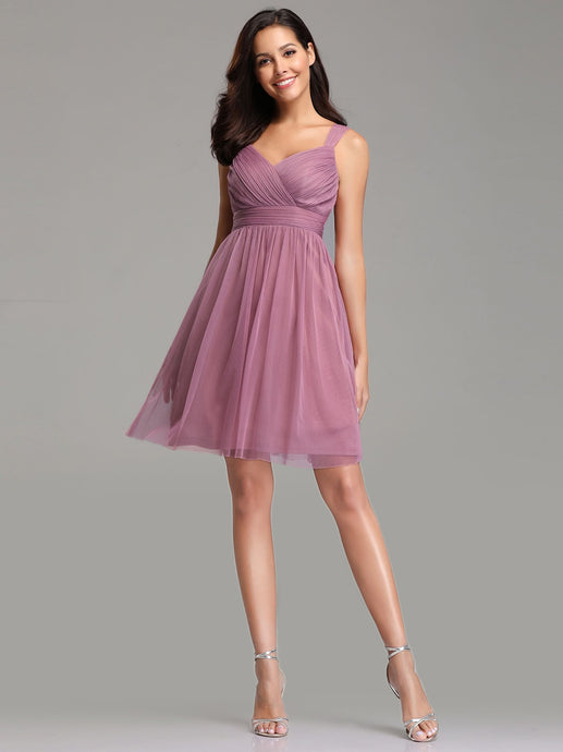 New! Tulle A-Line/Princess Short Prom Dresses
