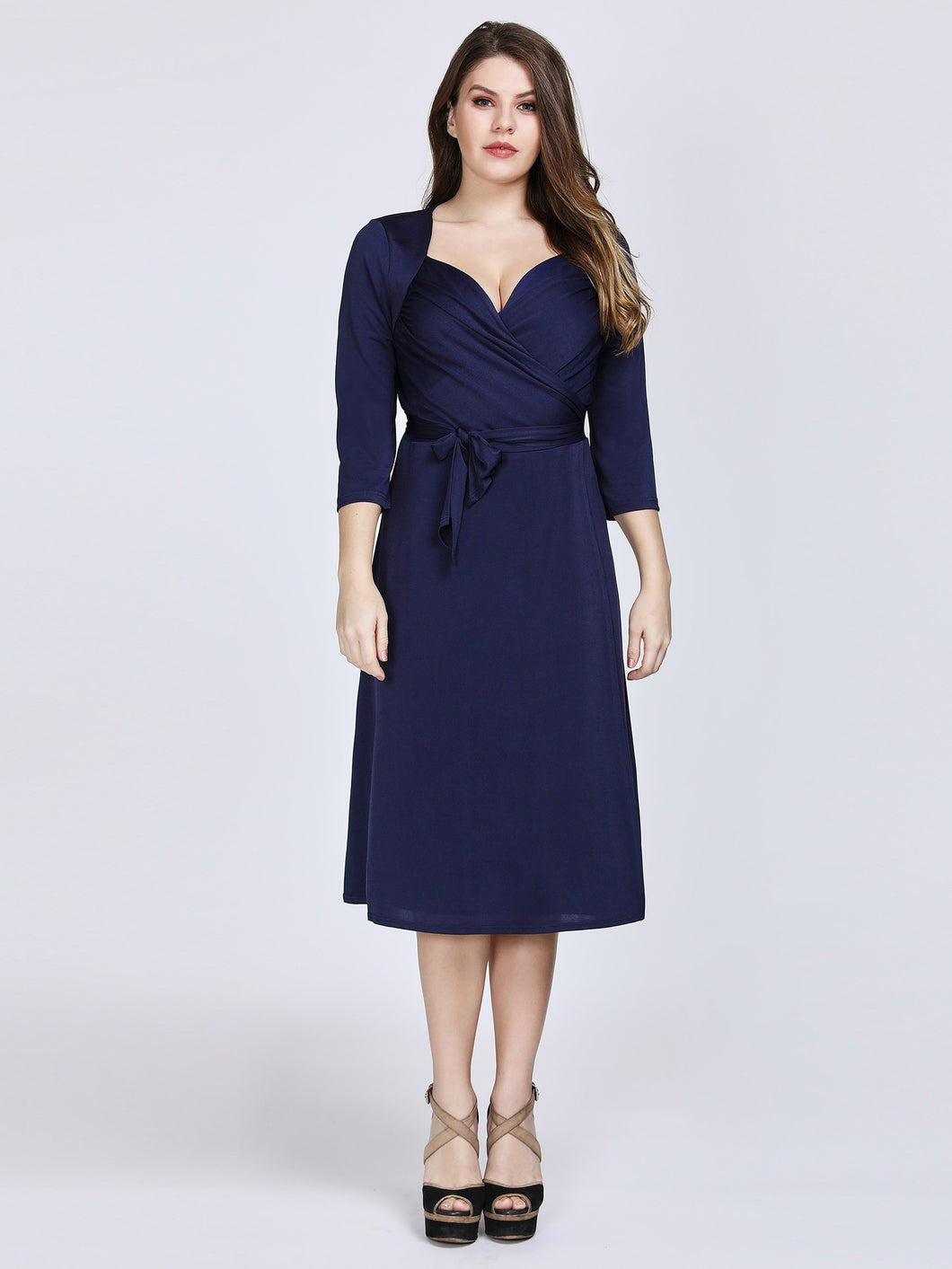 Chiffon Short 3/4 Sleeves Sweetheart Mother of the Bride Dresses
