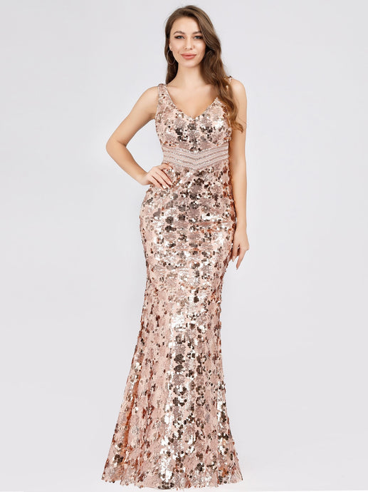 Sexy Trumpet/Mermaid Sequined Evening Dresses
