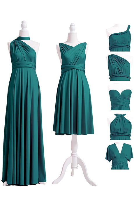 Sleeveless Halter Modest Chiffon Convertible Bridesmaids Dresses