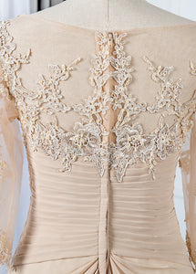 Appliques Lace 3/4 Sleeves Sweetheart Mother of the Bride Dresses