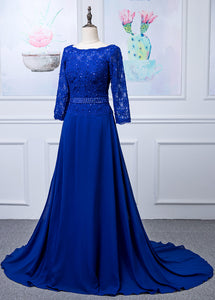 Lace Long Sleeves  Scoop Neck Mother of the Bride Dresses