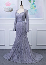 Lace Long Sleeves Trumpet/Mermaid Mother of the Bride Dresses