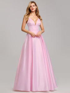 New! Pink Spaghetti Straps Floor-Length Bridesmaids Dresses 2019