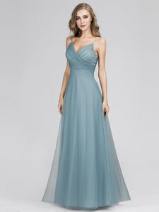 Sleeveless Tulle A-Line/Princess Bridesmaids Dresses