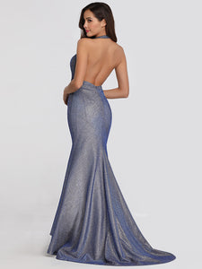 Trumpet/Mermaid V-neck Sleeveless Prom Dresses 2019
