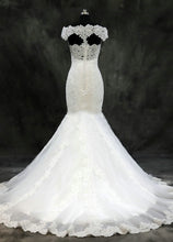 Lace Trumpet/Mermaid Sweep Train Off-the-Shoulder Wedding Dresses