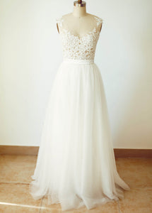 Floor-Length  A-Line/Princess Sweetheart Wedding Dresses