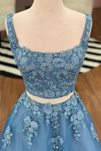 Regular Straps Tulle Appliques Lace Prom Dresses
