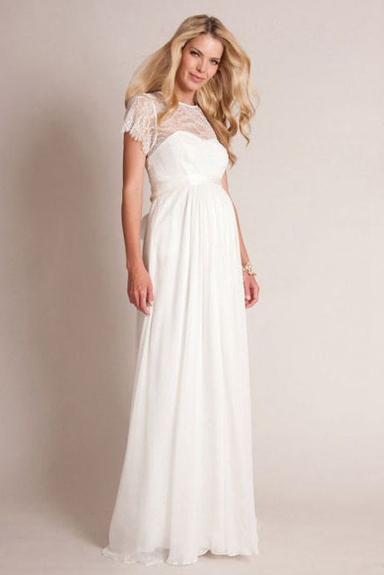 Elegant Floor-length Maternity Wedding Dresses