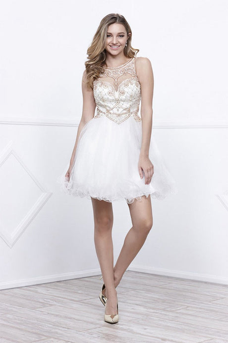 A-line Beading Short Formal Cocktail Dresses