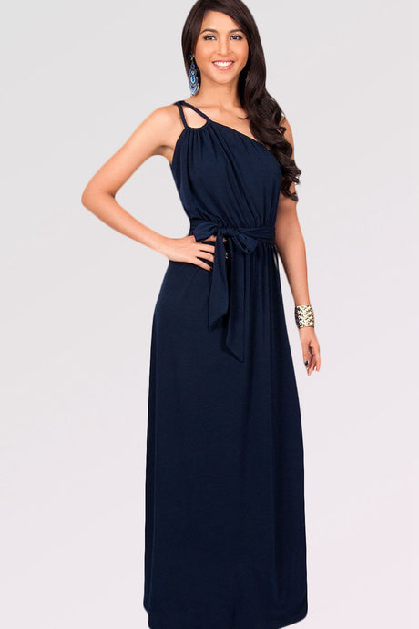 Elegant Sleeveless One-shoulder Bridesmaid Dresses