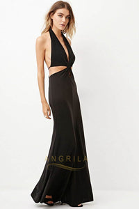 Sheath/Column Halter Sexy Prom Dress