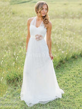 Princess Sweetheart Floor Length Tulle Wedding Dress With Flowers