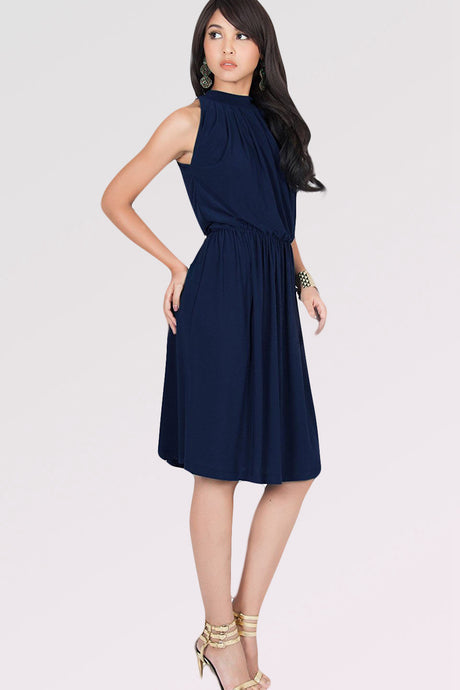 A-line Sleeveless Pleated Knee-length Cocktail Dresses