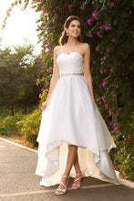 Ball-Gown Sweetheart Court Train Front Short Design Wedding Dress With Beading